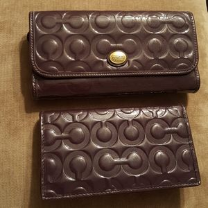 Never used Coach wallet with checkbook case